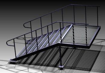 Лестницы, площадки, сетчатые ограждения